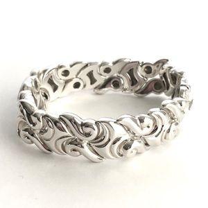 Ross Simons Bracelet Sterling Silver Swirl Scroll